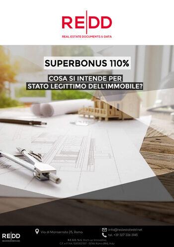SUPERBONUS 110%, cosa si intende per stato legittimo dell'immobile?